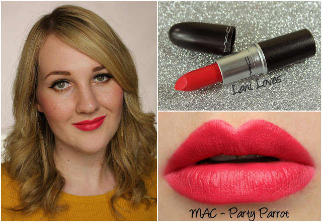 MAC Party Parrot lipstick swatch