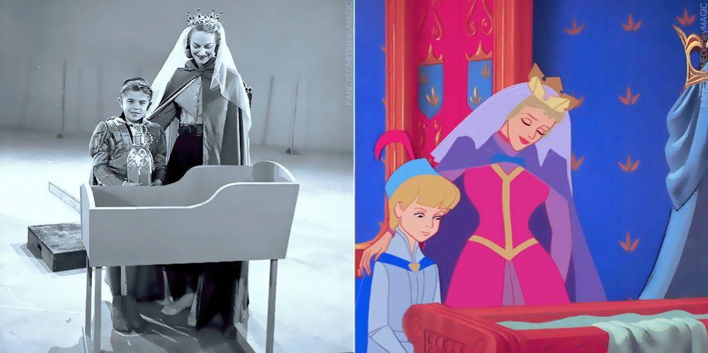 "Behind the Scenes Photo Print of Walt Disney Classic 1959 /""Sleeping Beauty/"""