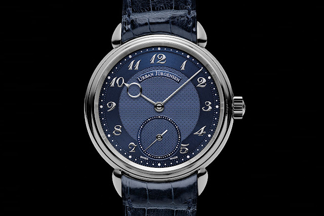 Urban Jürgensen Reference 1140 PT Blue Mechanical Hand-wound Watch
