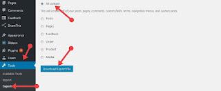 wordpress blog ka backup download kare