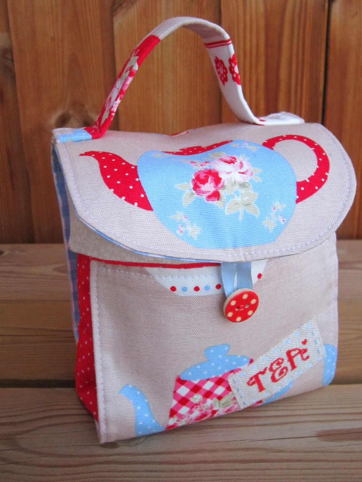 porta tazas, porte tasse, mug bag, costura, sewing, couture, Red Brolly, te, the, tea
