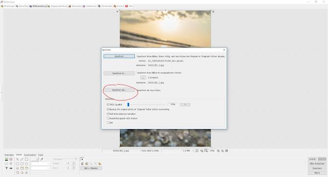 Photoscape Anleitung Bilder übereinanderlegen 6 Speichern als