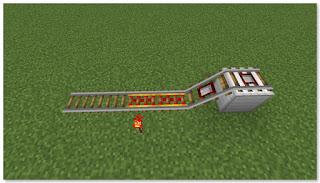 Minecraft 高速トロッコ輸送 アイテム積み込み駅 作り方①