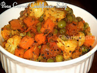 Peas, Carrot & Cauliflower Subji