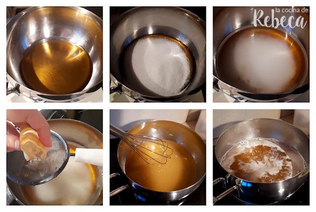 Receta de mielitos (hojaldres de Astorga): almíbar de miel