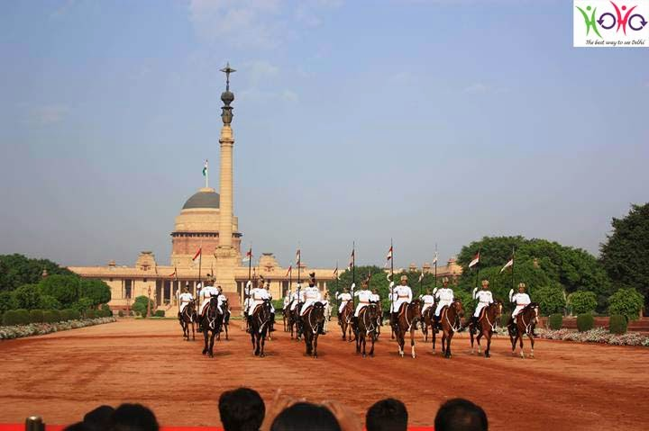 change of guard ceremony - Horse Riders Arrival , Delhi Rashtrapati Bhawan