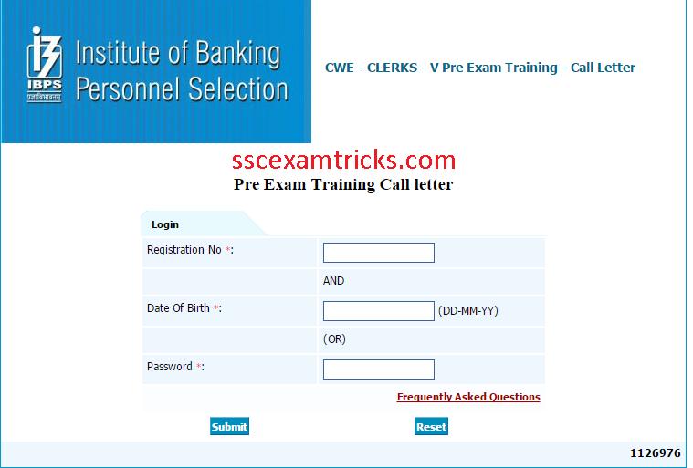 ibps cwe clerk 4 2014 admit card