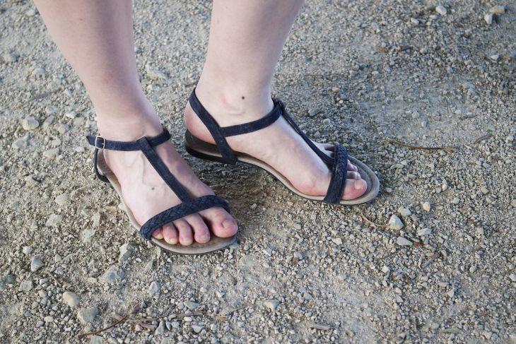 sandales bleu marine primark