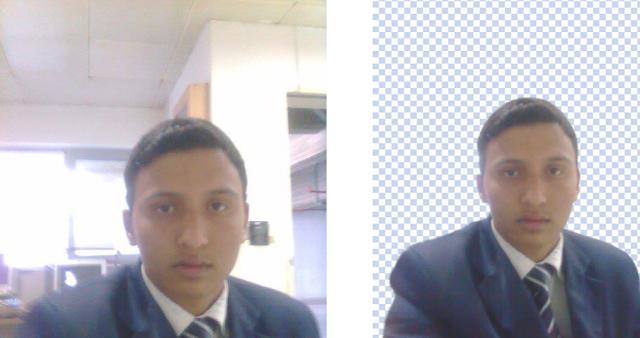 مثال لازالة خلفية لصورة قبل وبعد ازالة الخلفية