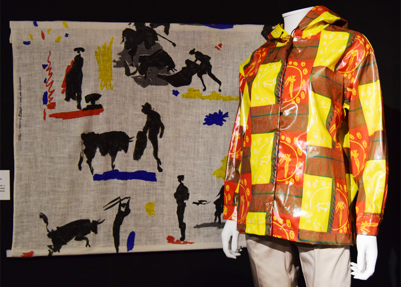 Artist Textiles Exhibition: Picasso to Warhol. Pablo Picasso Spanish Bullfighter jacket