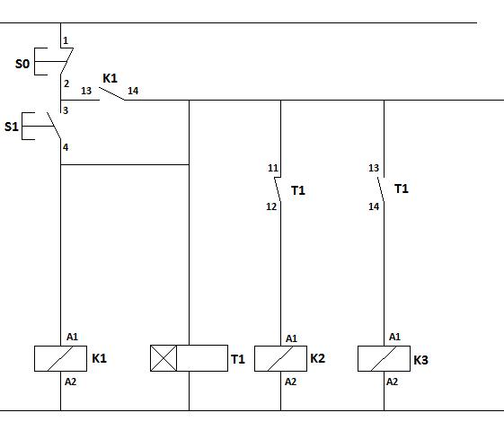 Rangkaian Kontraktor Star Delta Wiring Diagram