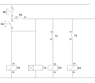 rangkaian kontaktor star delta wiring diagram