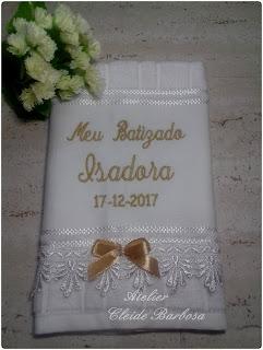 toalha de batizado personalizada