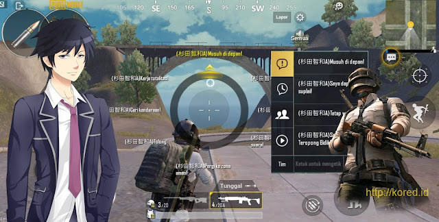 Quick Chat ke bahasa Jepang Male Version Pubg Mobile 0.12