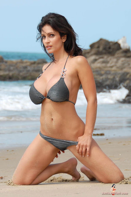 Denise-Milani-Beach-Silver-bikini-hottest-photoshoot-pics-35