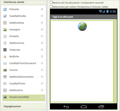 Creare l'app del tuo sito web (Mit App Inventor 2)