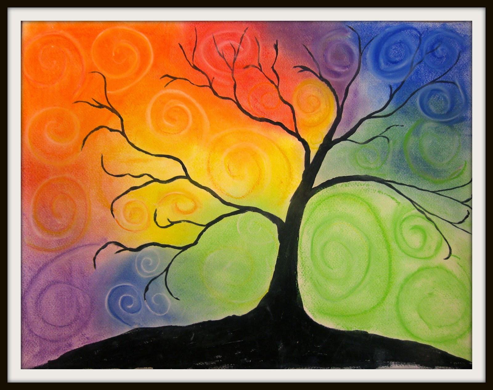 Swirl Color Tree | Art Class Ideas