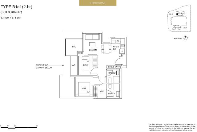 Sky Vue Type B1a1 Floor Plan
