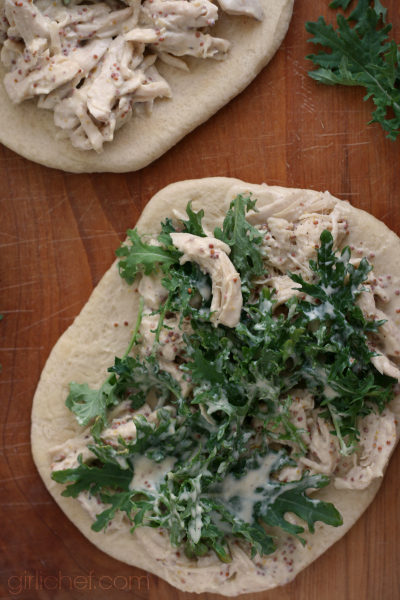 Honey-Mustard Chicken and Arugula Wraps