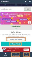 earnvilla app refer & earn