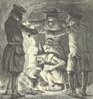 Illustration of witches from The British Library