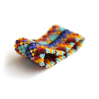 купить широкое женское кольцо в стиле этно украшения из бисера