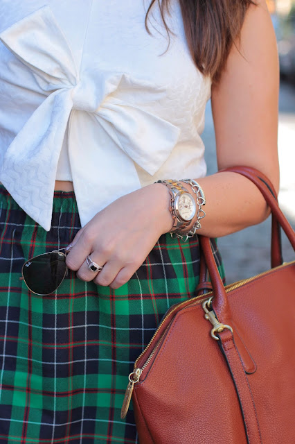 crop top, high wasited skirt, j. crew, asos, ray-ban