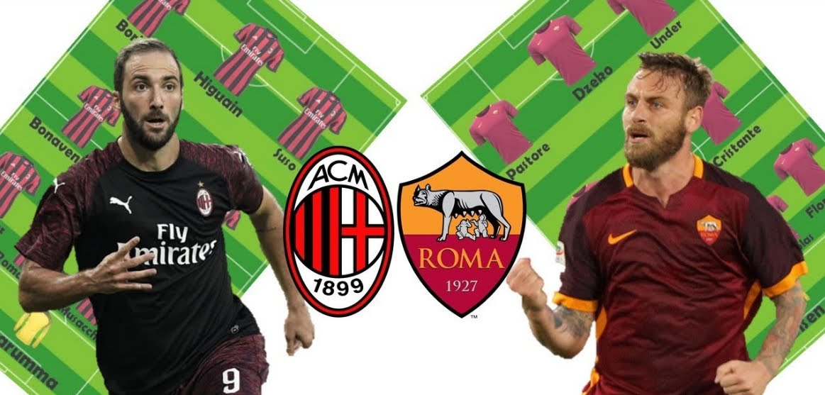 MILAN-ROMA Streaming: info Facebook YouTube, dove vederla Gratis con PC SmartPhone Tablet