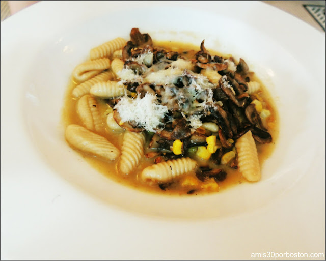 Housemade Cavatelli, Roast Mushrooms, Corn, Hazelnuts