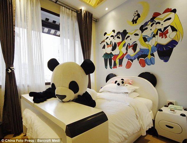 Hotel Bertemakan Panda Tersebut Tepatnya Dibuka Di Provinsi Sichuan China Reka Bentuk Interior Dan Exterior Penuh Dengan Hiasan