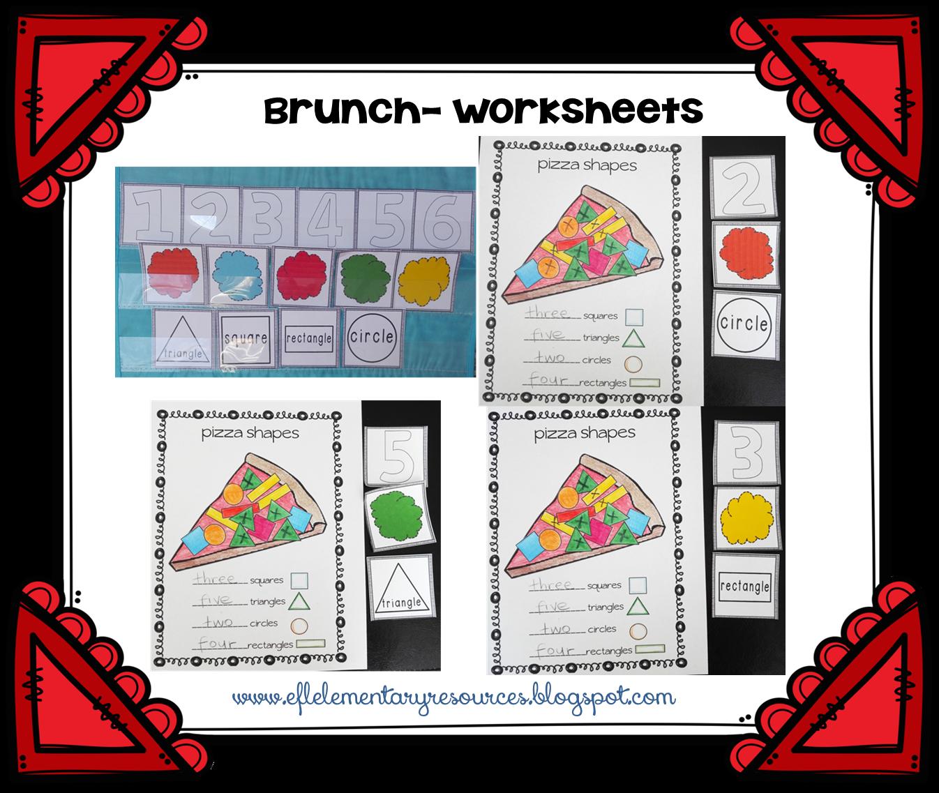Efl Elementary Teachers Brunch Breakfast And Lunch Theme