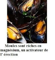 Moules sont riches en magnésium, un activateur de l' érection.