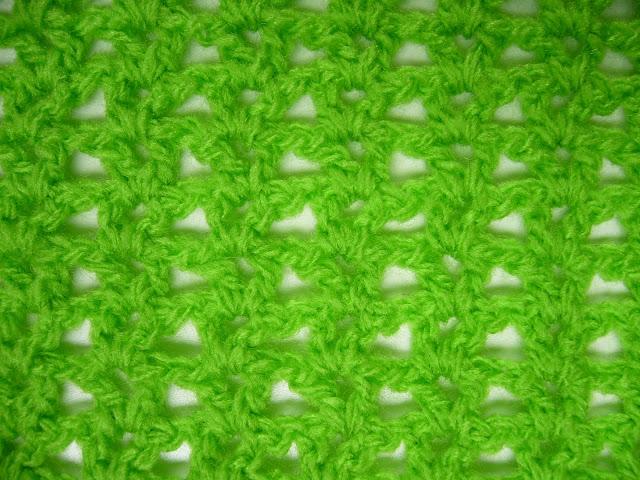V-stitch crochet.