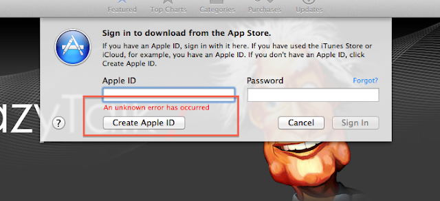 apple app store login problem