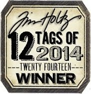 Tim Holtz 12 tags of 2014 March Winner