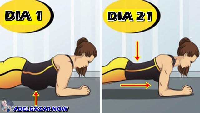 Desafío Plank De 21 Días Para Obtener Abdominales Fuertes, Cintura Sin Grasa y Glúteos Firmes