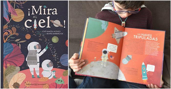 cuentos infantiles, libros conocimientos informativos mira al cielo