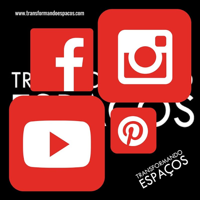 As redes sociais do blog Transformando Espaços