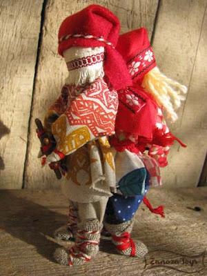 Народная кукла-оберег Спиридон-Солнцеворот