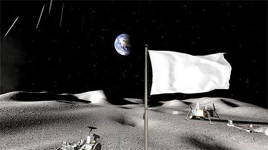 Bandeira branca na Lua