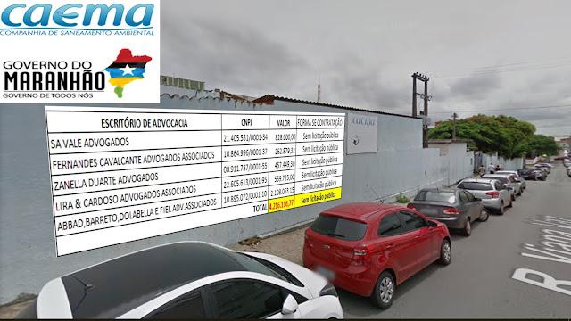 R$ 4,2 MILHÕES: A farra de contratações de advogados via CAEMA e o esquema