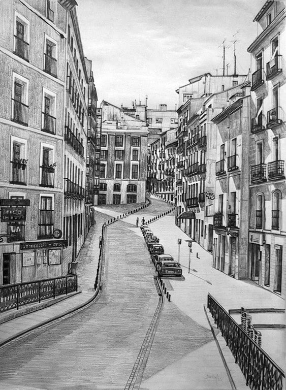 08-Calle-de-Madrid-Daniel-Formigo-Pencil-Urban-Architectural-Drawings-www-designstack-co