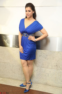 Mannara Chopra in Short Blue Dress at Rogue Movie Teaser Launch 1st March 2017 126.JPG