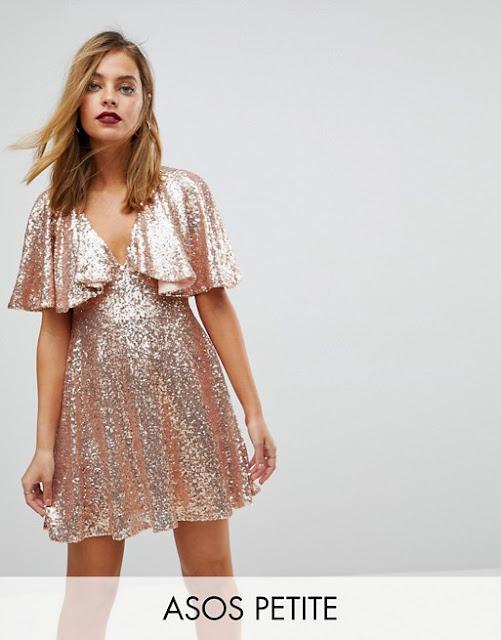 Asos Petite Vestitino rosa in pizzo con paillettes | 15 vestiti per capodano 2018
