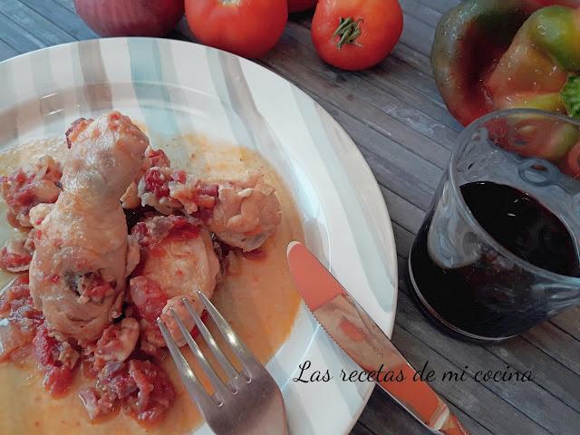 Pollo al chilindrón (VIDEORECETA)