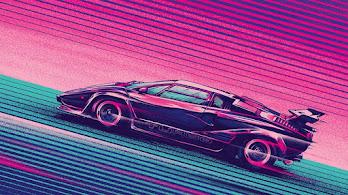 Sci-Fi, Car, Neon, Digital Art, Retrowave, Synthwave, 4K, #4.2022