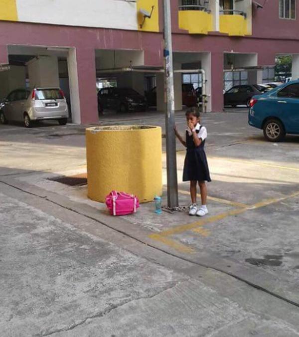 Gambar Kaki Murid Perempuan Dirantai Di Tiang Cetus Kritikan Netizen!