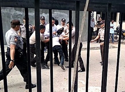 Aksi Kekerasan Polisi Dompu, Ini Kata Badko HMI Nusra