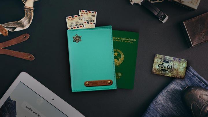 vỏ passport xanh lam