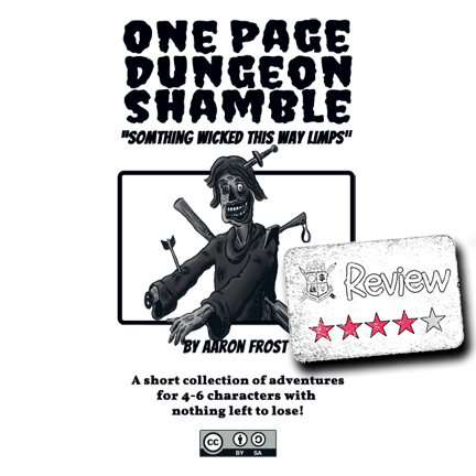Frugal GM Review: One Page Dungeon Shamble